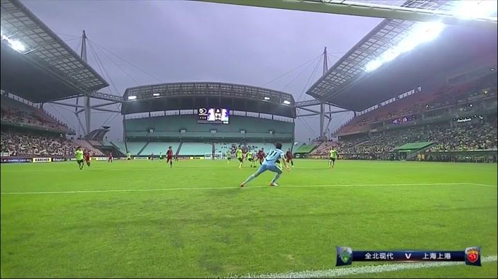亚冠1/8决赛次回合-全北现代1-1上海上港