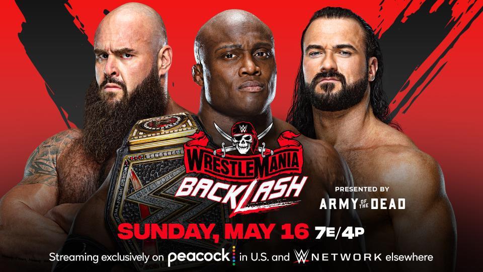 爆裂震撼2021:WWE冠军赛 莱斯利VS德鲁VS斯特劳曼
