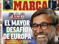 马卡今日封面:欧冠战火重燃 对决利物浦!马竞迎全欧最大挑战