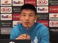 武磊:明天的比赛我们一定会全力争胜 球队仍然充满信心