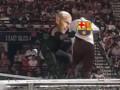 WWE恶搞齐达内铁笼顶掀翻巴萨 如愿站上西甲之巅!