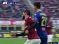 第58分钟AC米兰球员卡拉布里亚射门 - 打偏