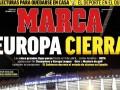 马卡今日头版:欧洲五大联赛停摆 中国篮球联赛有望4月重启?
