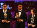 12年前今天卡卡夺世界足球先生 击败双骄!梅西C罗成背景
