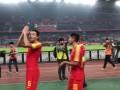 中国男足南京终克苦主叙利亚 赛后谢场引全场球迷狂欢