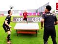 拜仁桌上足球莱万队PK诺伊尔队 风骚走位+丝滑球感是关键