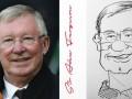 别样方式庆祝老爵爷77岁喜寿!国外网友手绘弗格森画像