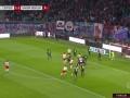 第57分钟RB莱比锡球员萨比策进球 RB莱比锡2-1柏林联