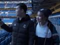PP体育会员美女球迷初见伯纳乌 期待欧冠拒绝毒奶