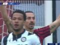 第52分钟AC米兰球员伊布拉希莫维奇射门 - 被扑