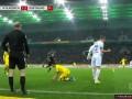 第84分钟门兴格拉德巴赫球员金特尔黄牌