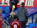 第20分钟利物浦球员米尔纳黄牌