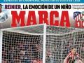 马卡今日封面:价值千金的进球 萨乌尔闪击助马竞攻克利物浦