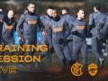国米欧联训练全景实录 空场迎战蓝黑将士严阵以待