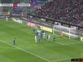 上半场补时第2分钟门兴格拉德巴赫球员莱纳射门 - 被扑
