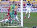 第17分钟莱切球员多纳蒂乌龙球 莱切0-1亚特兰大