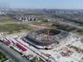 航拍浦东足球场:主体结构基本完成 6月下旬可看到雏形