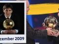 巴萨官方回顾!10年前今天首夺金球奖 梅西:等这天都不耐烦了