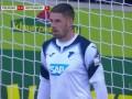 第40分钟弗赖堡球员瓦尔德施密特点球进球 弗赖堡1-0霍芬海姆