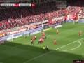 第22分钟沃尔夫斯堡球员韦格霍斯特射门-绝佳机会被扑