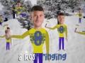 蓝军圣诞节搞怪视频:阿扎尔滑雪刷屏 奇克端着火鸡送祝福
