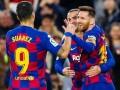 西甲-苏亚雷斯独造4球 梅西世界波 巴塞罗那4-1阿拉维斯