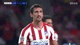 第70分钟马德里竞技球员萨维奇进球 马德里竞技1-2尤文图斯