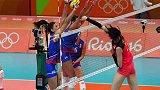 奥运会-16年-中国女排大败塞尔维亚 最后一战将血拼美国-新闻
