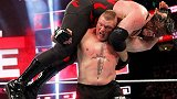 WWE-18年-2018王室决战大赛:全球冠军三重威胁赛 莱斯纳VS斯特劳曼VS凯恩-单场
