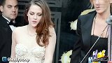 Kristen Stewart Walks On Crutches At 2013 Oscars