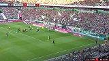 第13分钟RB莱比锡球员奥尔班进球 云达不莱梅0-1RB莱比锡