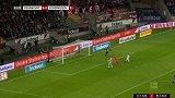 第4分钟法兰克福球员帕西恩西亚进球 法兰克福1-0勒沃库森