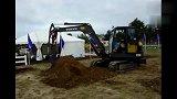 沃尔沃EC55微型迷你挖掘机工作视频表演