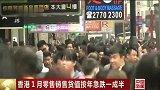 香港1月零售销售货值按年急跌一成半