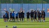 克罗地亚VS丹麦赛前备战 达利奇亲自指导球员训练