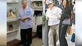67岁洪金宝现身,头发花白手拄拐杖步履维艰,获妻子全程守护!