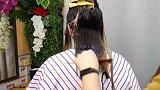 30岁女性头发干枯不再染发了,剪款锁骨微扣发型,真有气质
