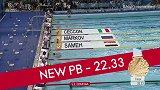 青奥会PB时刻 50m自由泳诞生个人最好成绩