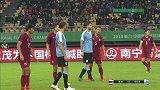 泰国战术角球戏耍乌拉圭防线 戈丁先出一脚化解险情