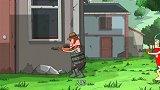 吃鸡动画:霸哥落地神装,满配98K+三级甲无敌了