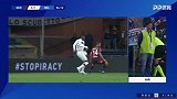 第57分钟AC米兰球员凯西点球进球 热那亚1-2AC米兰