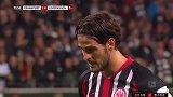 第17分钟法兰克福球员帕西恩西亚点球进球 法兰克福2-0勒沃库森